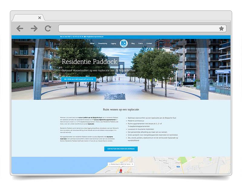 Website Residentie Paddock - DENK!