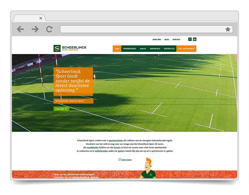 Website Scheerlinck Sport - DENK!